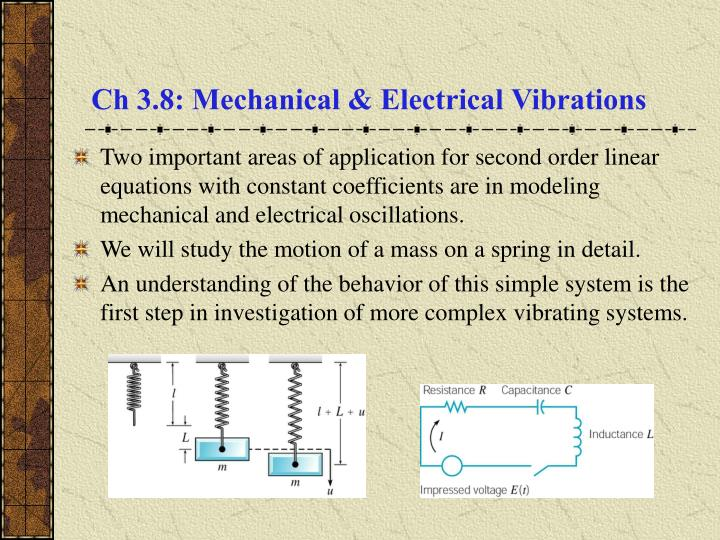 ch 3 8 mechanical electrical vibrations