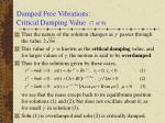 damped free vibrations critical damping value 7 of 8
