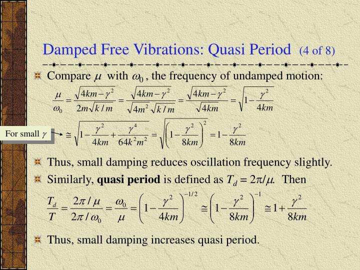 Damped Free Vibrations: Quasi Period