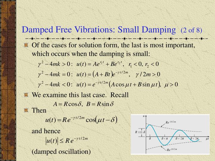 Damped Free Vibrations: Small Damping