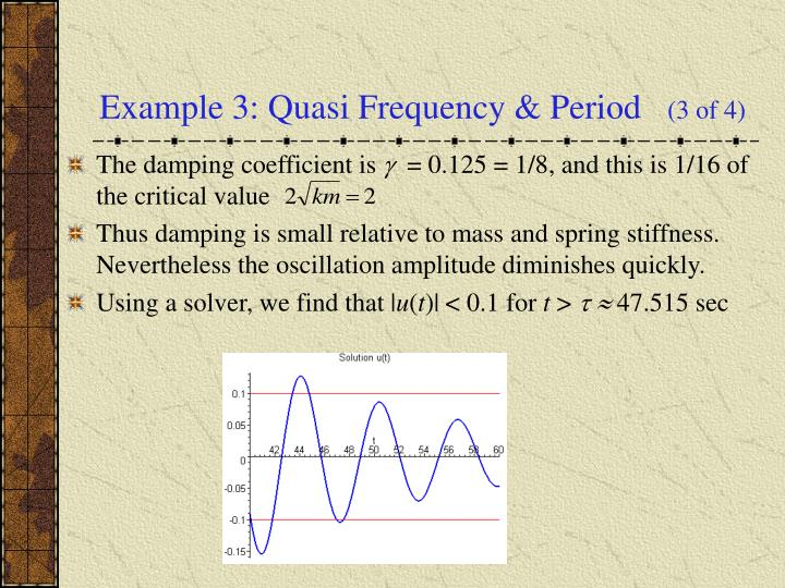 Example 3: Quasi Frequency & Period