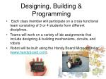 designing building programming