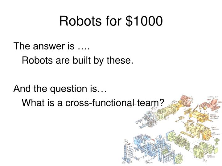 Robots for $1000