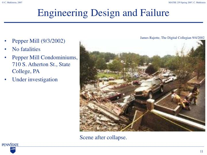 Engineering Design and Failure