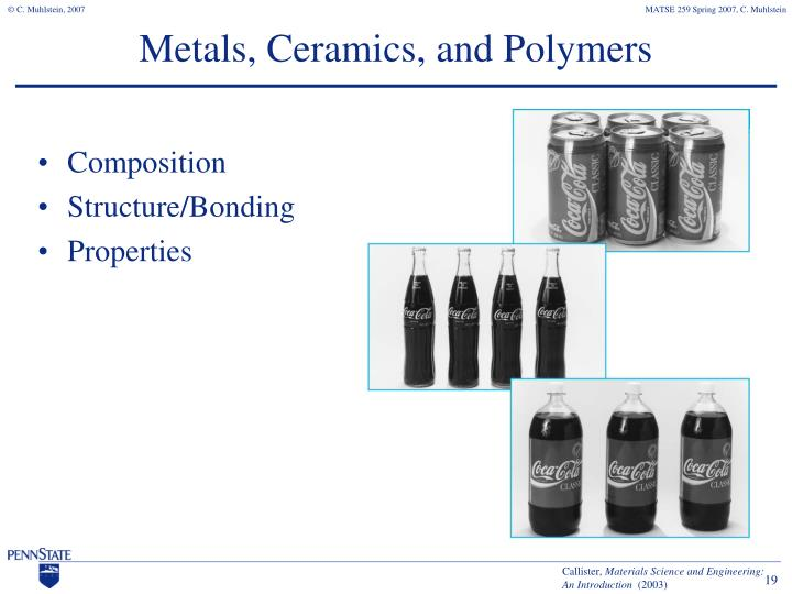 Metals, Ceramics, and Polymers