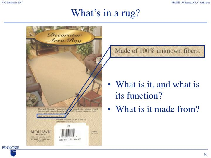 What's in a rug?
