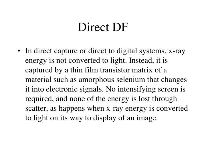 Direct DF