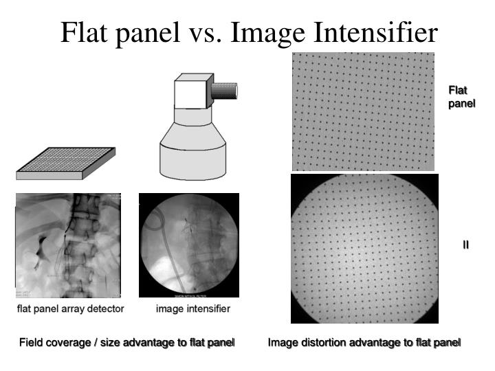 Flat panel vs. Image Intensifier
