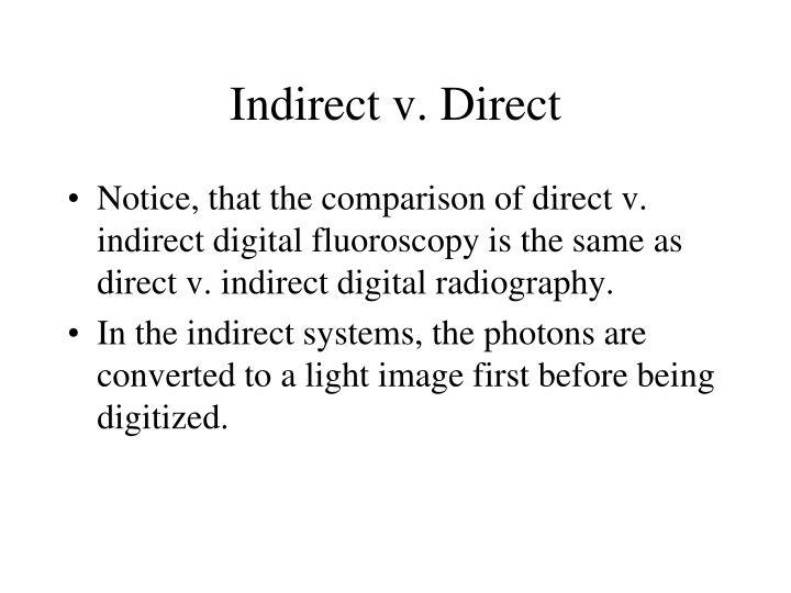 Indirect v. Direct