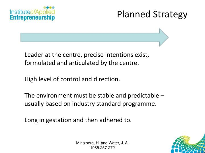 Planned Strategy