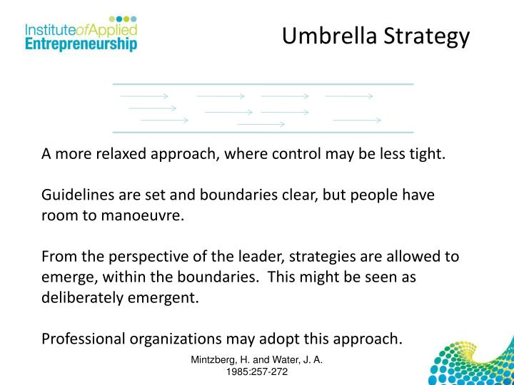 Umbrella Strategy