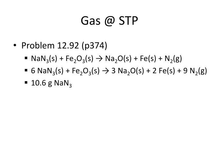 Gas @ STP