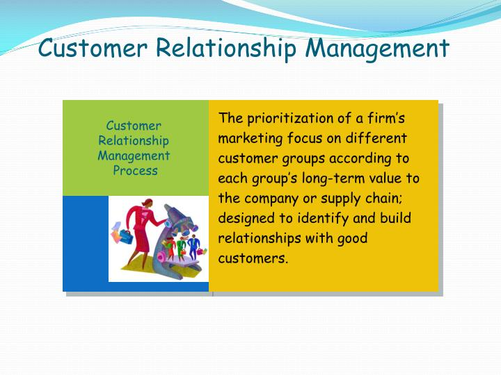 The prioritization of a firm's marketing focus on different customer groups according to each group's long-term value to the company or supply chain; designed to identify and build relationships with good customers.