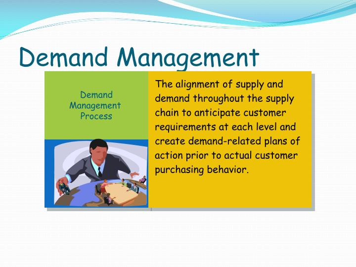 The alignment of supply and demand throughout the supply chain to anticipate customer requirements at each level and create demand-related plans of action prior to actual customer purchasing behavior.