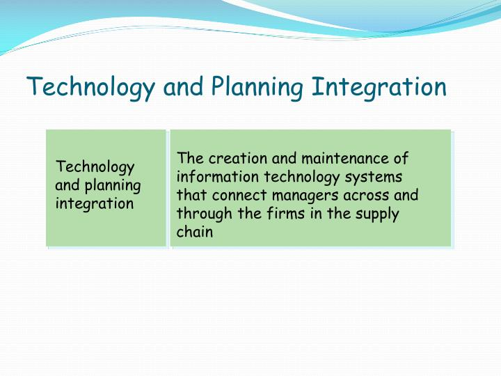 Technology and Planning Integration