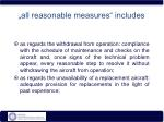 all reasonable measures includes