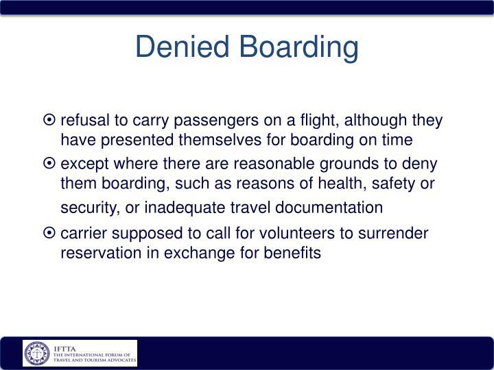 Denied Boarding