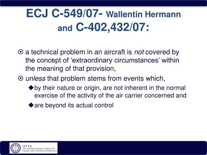 ECJ C-549/07-