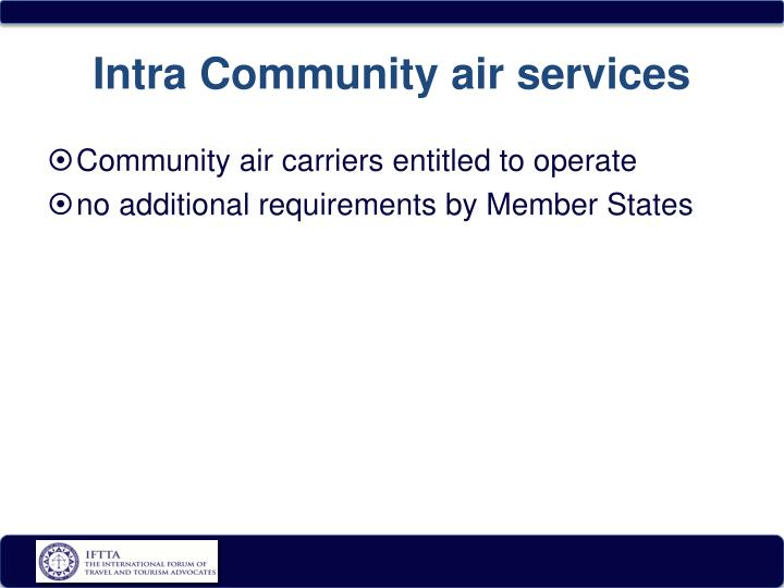 Intra Community air services