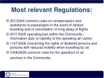 most relevant regulations