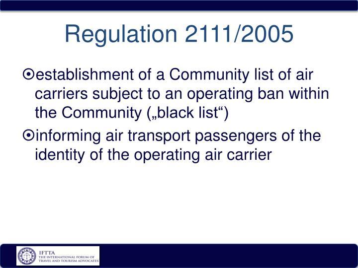 Regulation 2111/2005