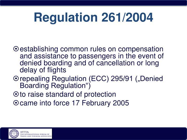 Regulation 261/2004