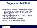 regulation 261 2004