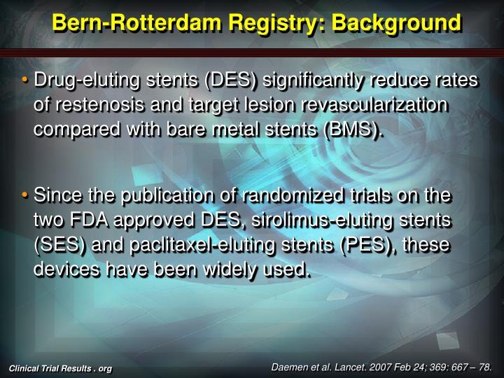 Bern-Rotterdam Registry: Background