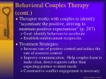 behavioral couples therapy cont