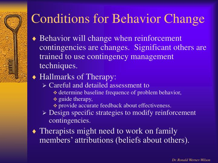 Conditions for Behavior Change