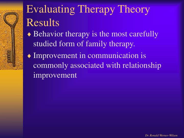 Evaluating Therapy Theory Results