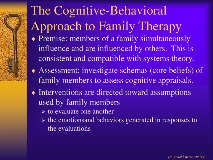 The Cognitive-Behavioral Approach to Family Therapy
