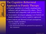 the cognitive behavioral approach to family therapy