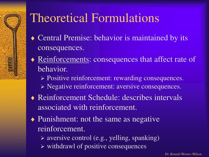 Theoretical Formulations