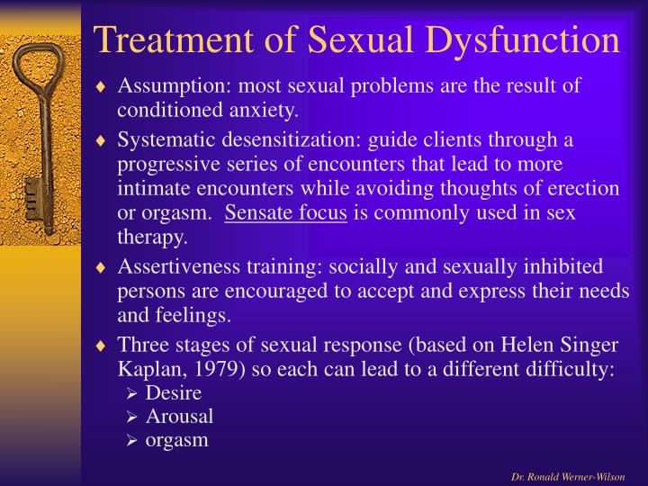 Treatment of Sexual Dysfunction