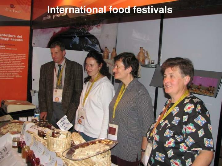 International food festivals