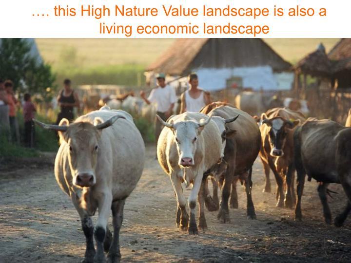 …. this High Nature Value landscape is also a living economic landscape
