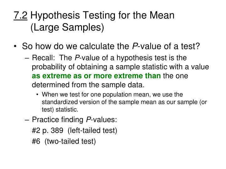 7 2 hypothesis testing for the mean large samples1