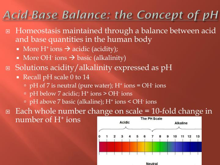 Acid-Base Balance: the Concept of pH