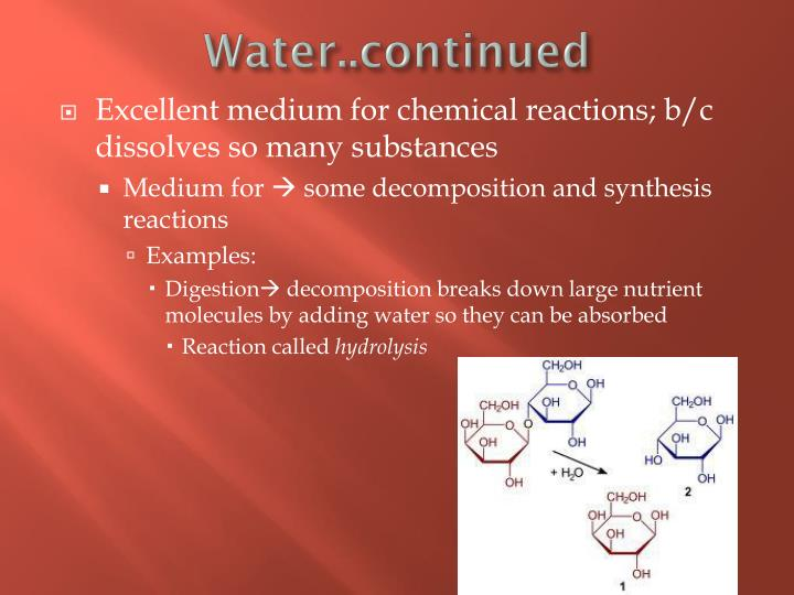 Water..continued
