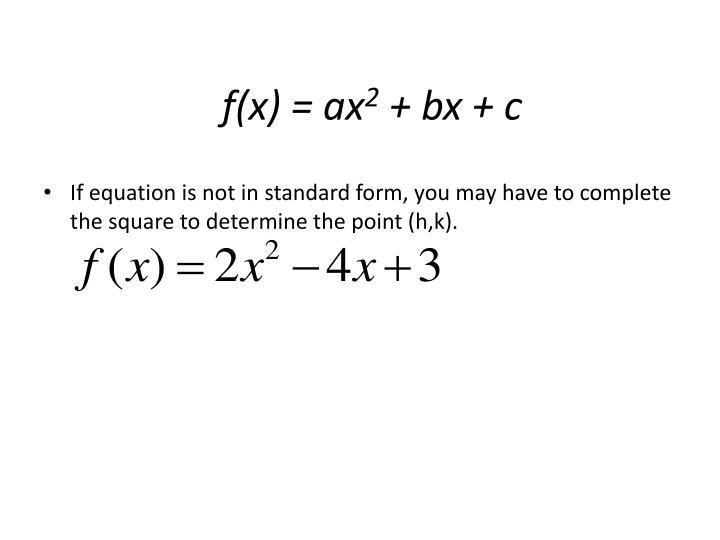 f(x) = ax
