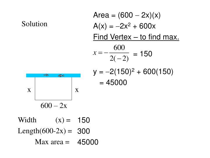 Area = (600