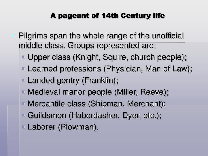 A pageant of 14th Century life
