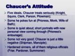 chaucer s attitude