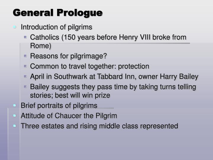 General Prologue