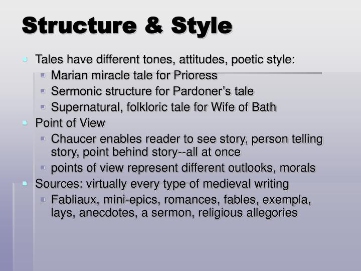 Structure & Style