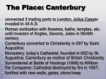 the place canterbury