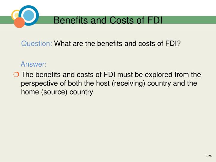 Benefits and Costs of FDI