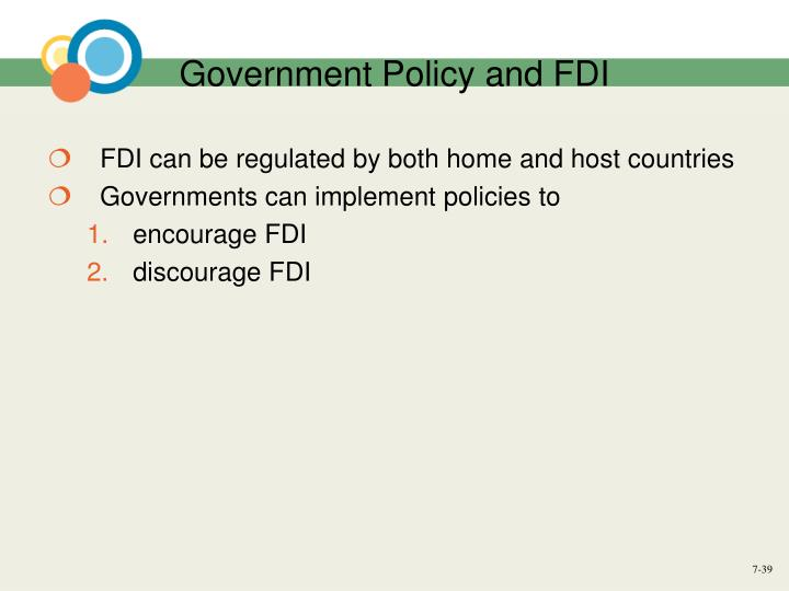 Government Policy and FDI