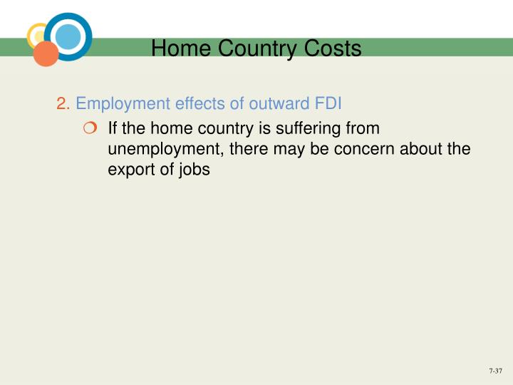 Home Country Costs